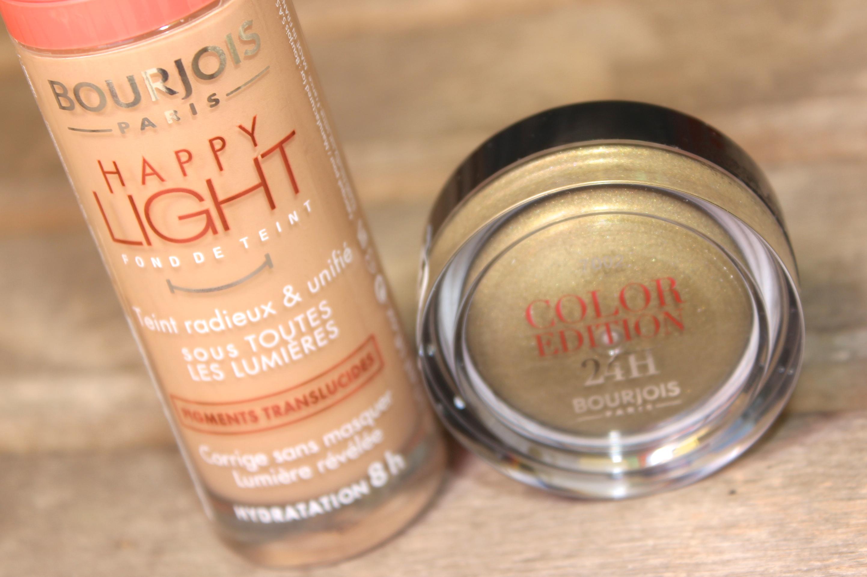 Bourjoist happy light foundation n52 light beige Color edition 24h kaki cheri 1