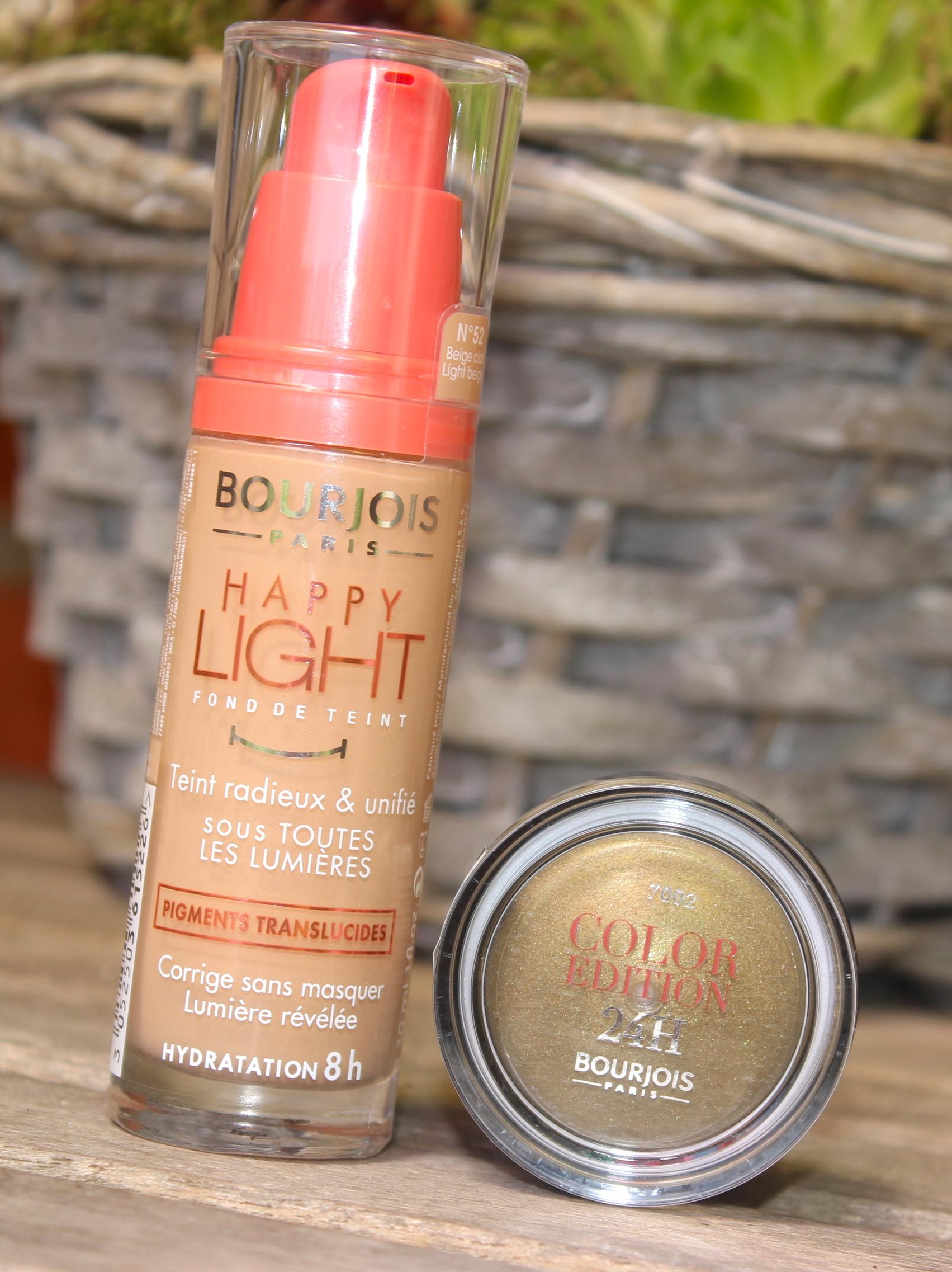 Bourjoist happy light foundation n52 light beige Color edition 24h kaki cheri