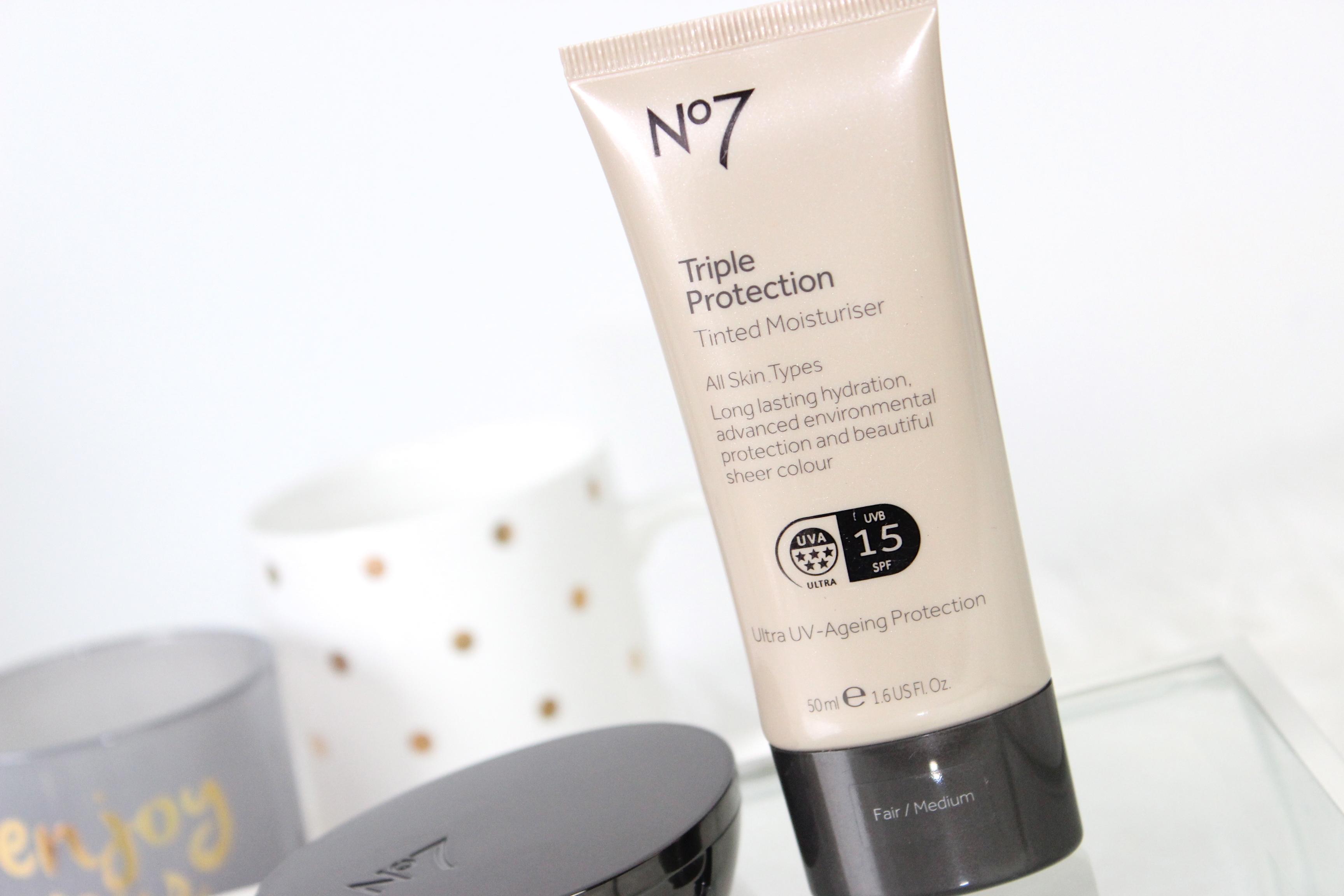 Boots no7 Triple protection tinted moisturiser fair:medium review 1