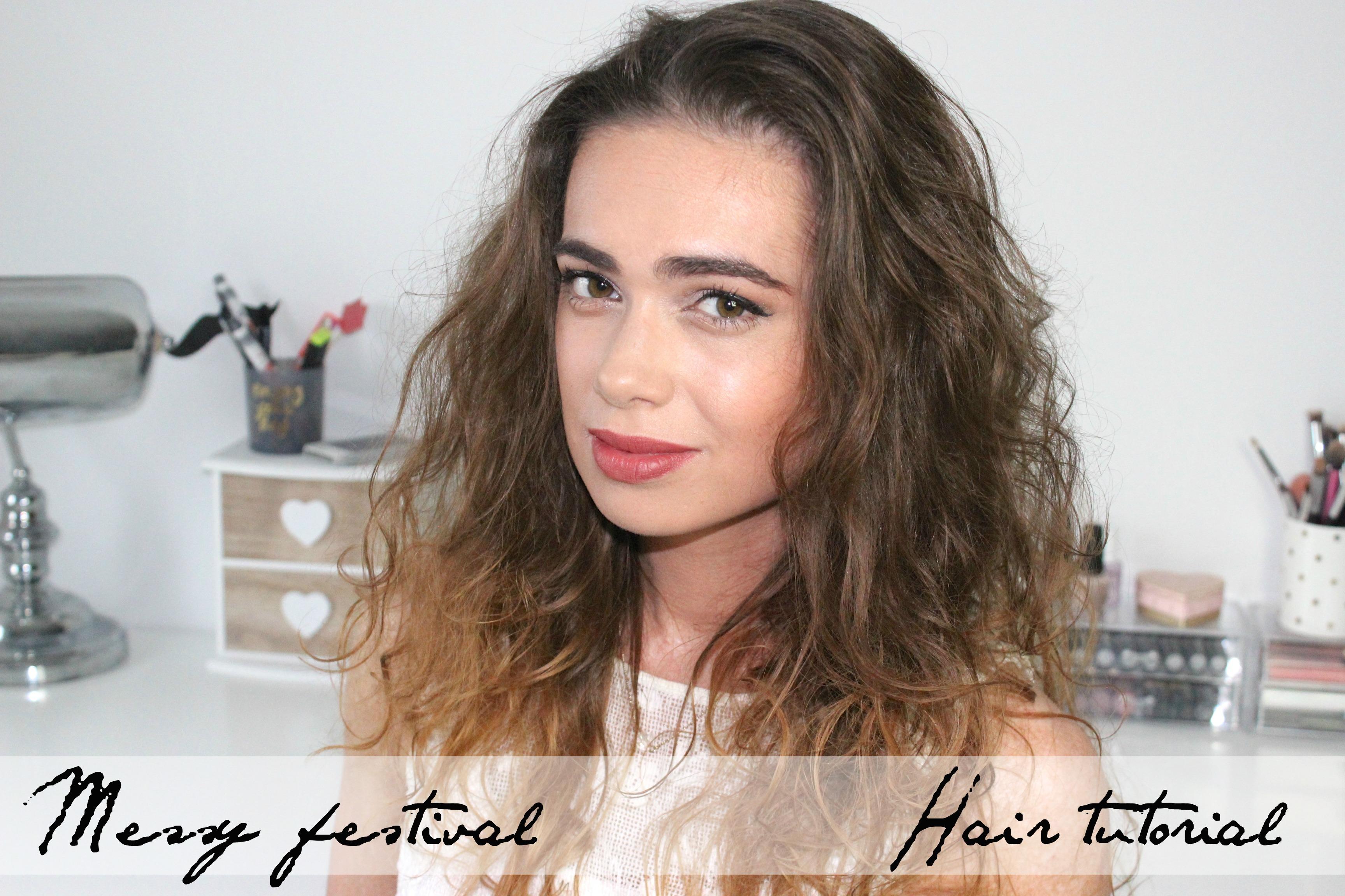 Messy Festival hair tutorial cover kopie