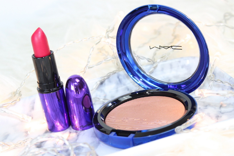 MAC Magic of the night Shaft of gold MSF All fired up lipstick review 2