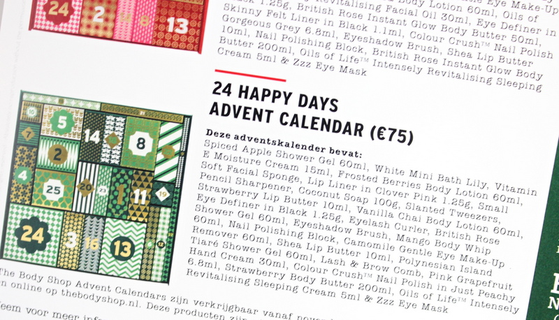 Review The Body Shop 24 Happy Days Deluxe Advent Calendar 2016 Beautydagboek