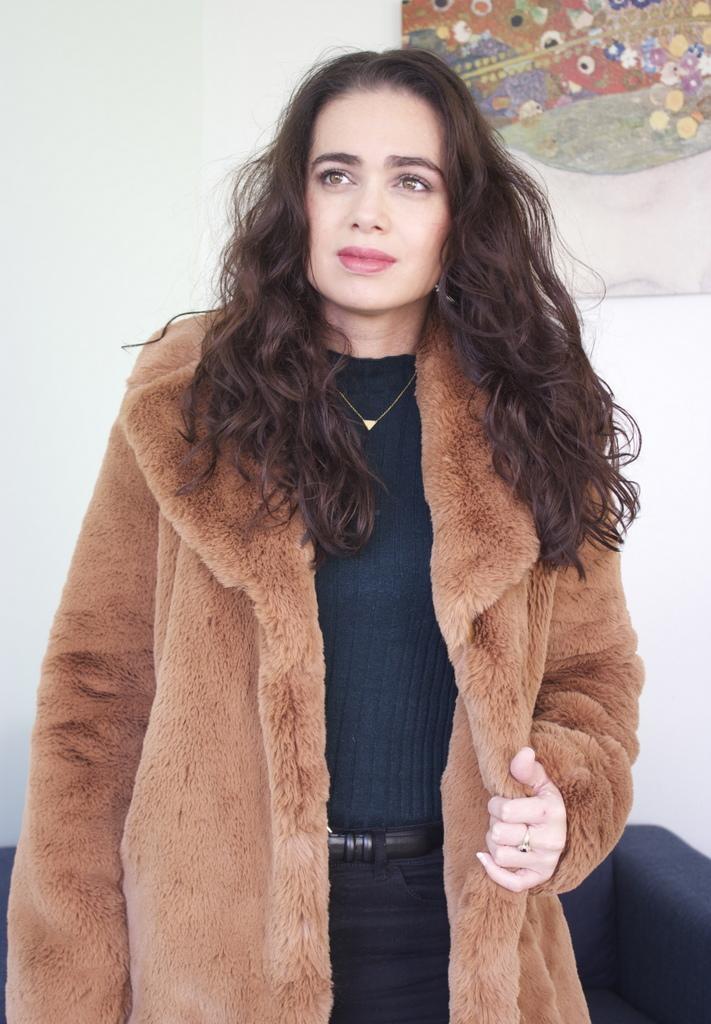Bruine Teddy Jas.Fashion Outfit My New Faux Fur Teddy Coat Beautydagboek