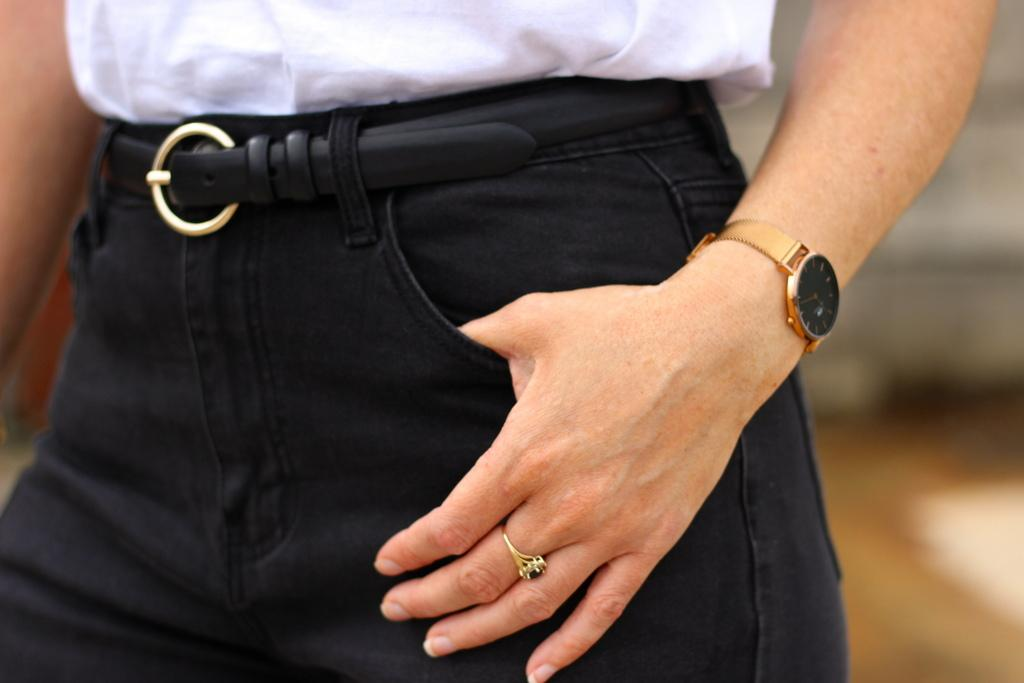 Sandro belt outfit