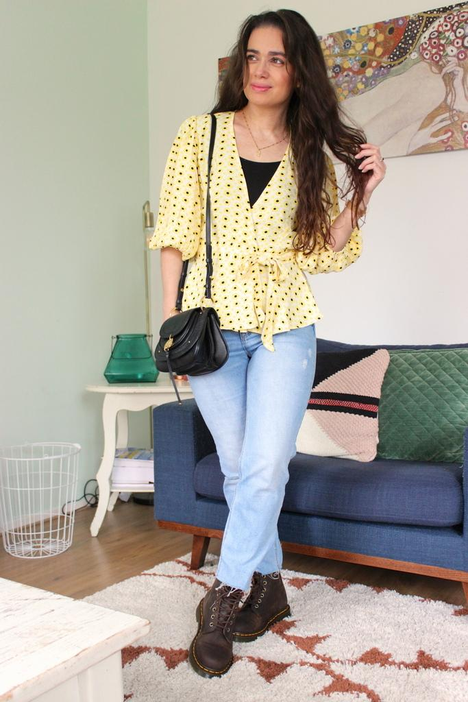 outfit Ganni blouse